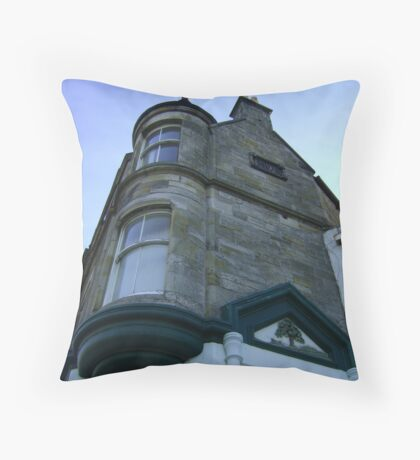 the waiting windows (glass and stone curved, turret, Burntisland) Throw Pillow