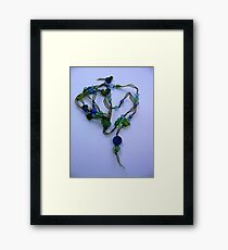 Delicate and blue Framed Print