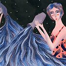 Aquarius - Zodiac astrology signs illustration series by zsalto