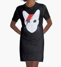 Katze Bowie T-Shirt Kleid