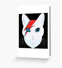 Cat Bowie Greeting Card