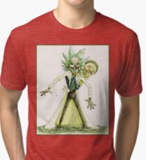 Camiseta de tejido mixto Rick tóxico y Morty