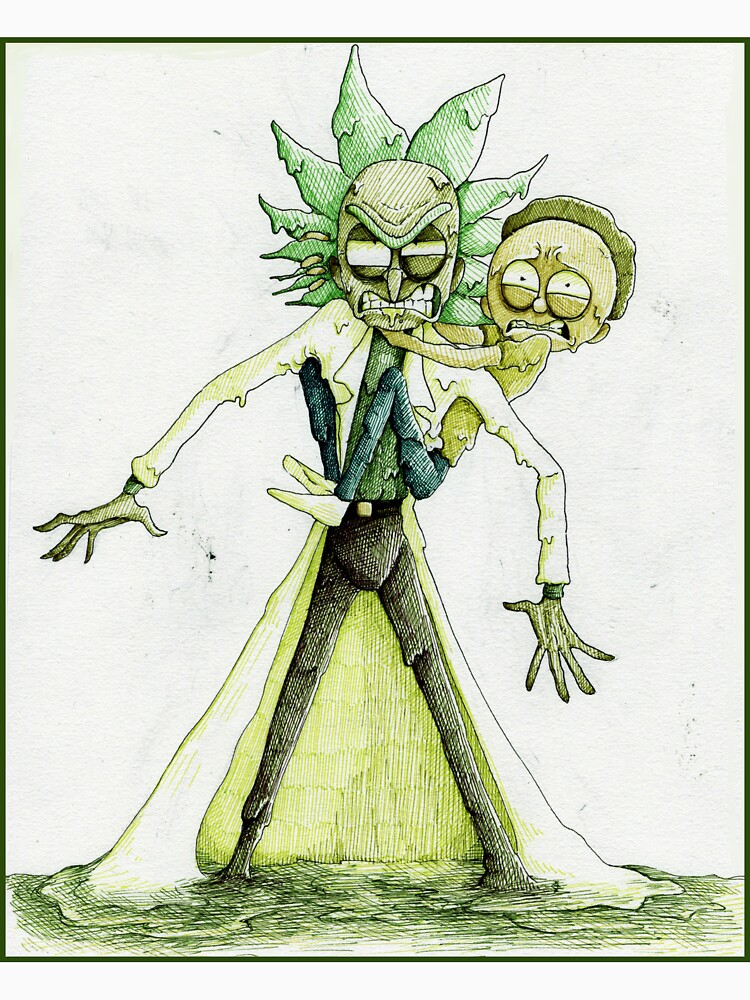 Toxic Rick and Morty by Queen-Aquene