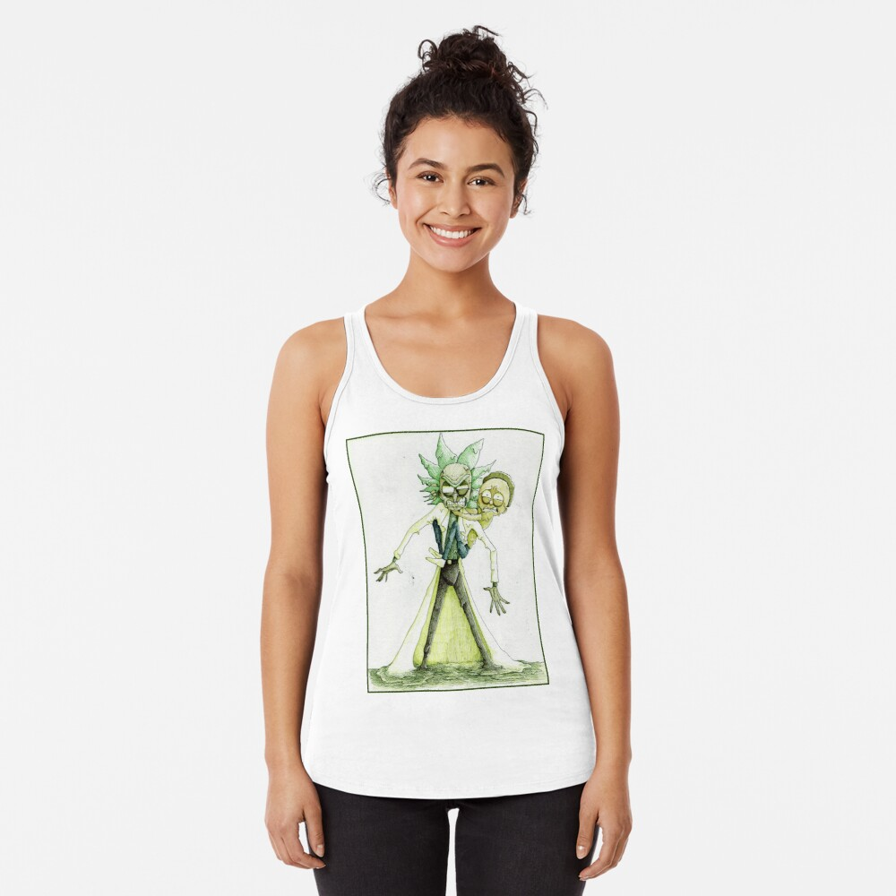 Toxic Rick and Morty Racerback Tank Top