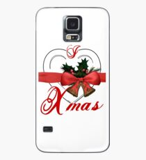 i love xmas - heart with christmas bells Case/Skin for Samsung Galaxy