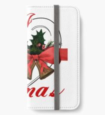 i love xmas - heart with christmas bells iPhone Wallet/Case/Skin