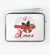 i love xmas - heart with christmas bells Laptop Sleeve