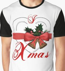 i love xmas - heart with christmas bells Graphic T-Shirt