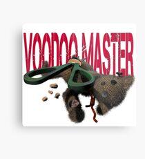 cute halloween voodoo master teddy Metal Print
