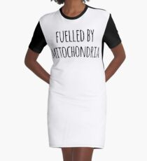 acb9465d6 Fuelled By Mitochondria- Funny Mitochondria Joke Graphic T-Shirt Dress