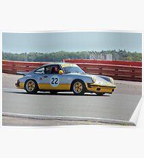 Silver Porsche 911 Poster