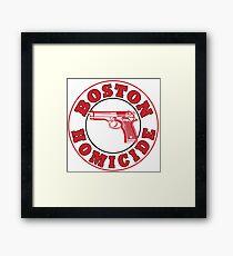 Rizzles Boston Homicide Logo Framed Print