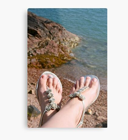 Seaside feet Metal Print