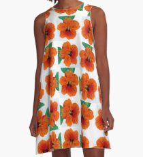Portrait of a Nasturium A-Line Dress