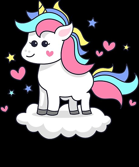 Unicorn Floating on Cloud Design by UltimatePeter