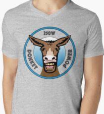 250 watt Donkey Power  Men's V-Neck T-Shirt