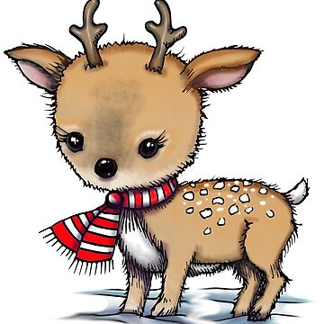 Little Deer Holiday Art by Molly Harrison by robmolily