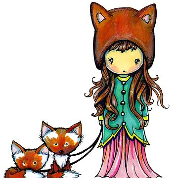 Little Fox Girl Illustration by Molly Harrison by robmolily