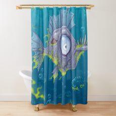 Zombie Fish Shower Curtain