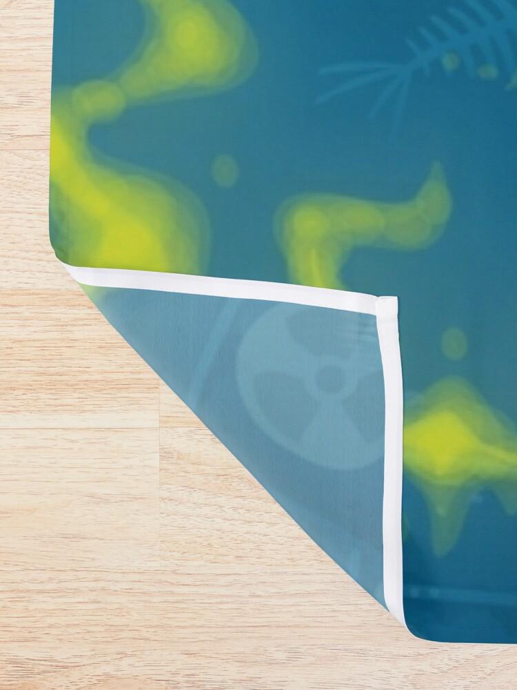 Alternate view of Zombie Fish Shower Curtain