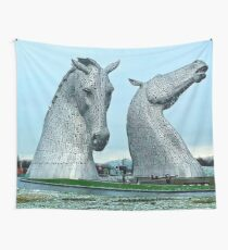 The Kelpies in January Wall Tapestry