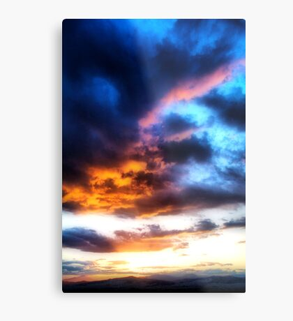 Sunset in Athens Metal Print