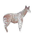 Watercolor Standing Okapi by WildernessStore