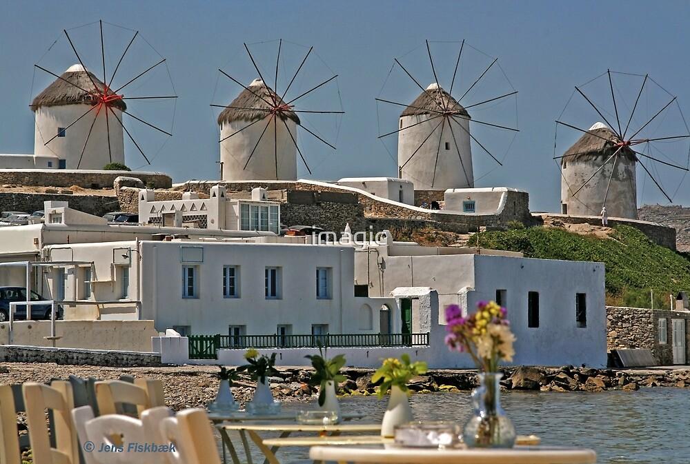 Windmills of Mykonos by imagic