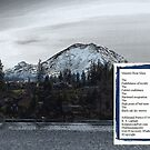 Mt. Rainier from Lake Wilderness-Mimetic-Hour-Glass-Poem by Kenneth S Lapham