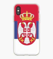Serbia flag emblem iPhone Case