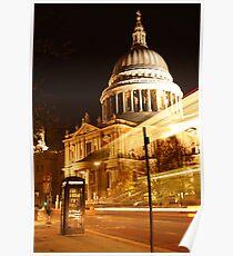 St Pauls at Night Poster