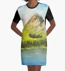 Friedliche Gipfel T-Shirt Kleid