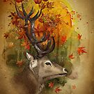 Oh, deer! Autumn by marineloup-art