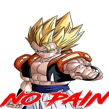 """Gogeta """" Fear No Pain"""" White/Red Letter by mugenjyaj"""