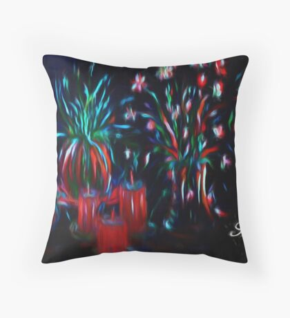 Candle Light and Flowers Throw Pillow