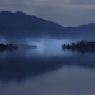 Fog on the Dark Mountain Lake by Menega  Sabidussi