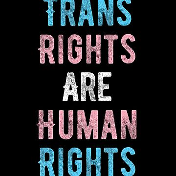 Trans Rights Are Human Rights transgender flag people Mug by bentsentiments