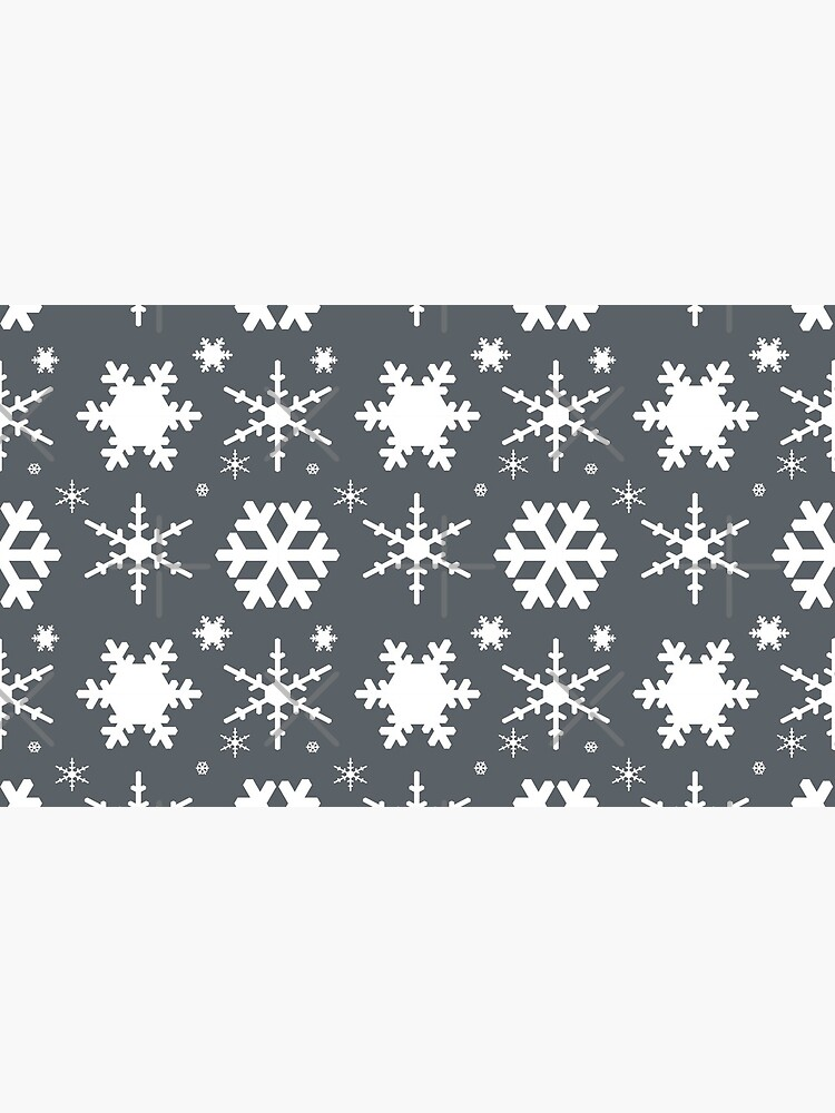 Snowflakes Gray  by blakcirclegirl