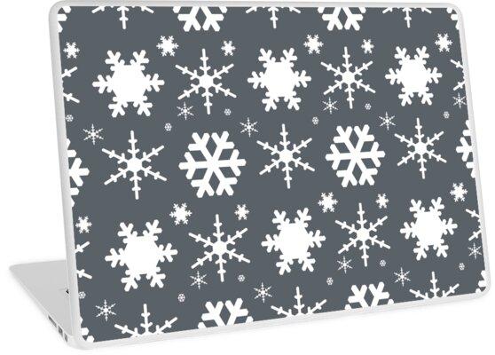 Snowflakes Gray  by blakcirclegirl