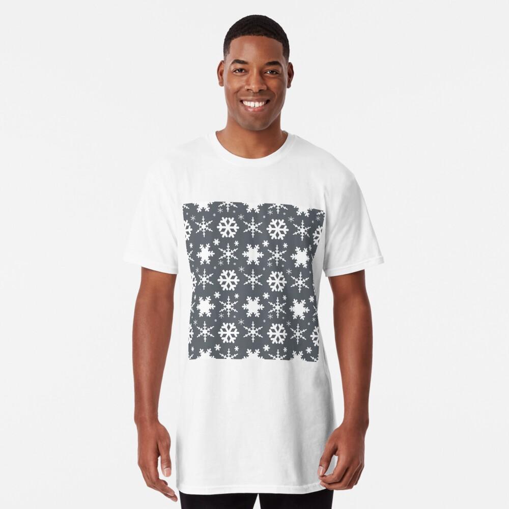 Snowflakes Gray  Long T-Shirt