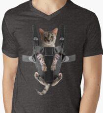 Cat Parent Baby Carrier  Men's V-Neck T-Shirt