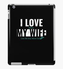Love My Wife T-Shirts & Designs  iPad Case/Skin