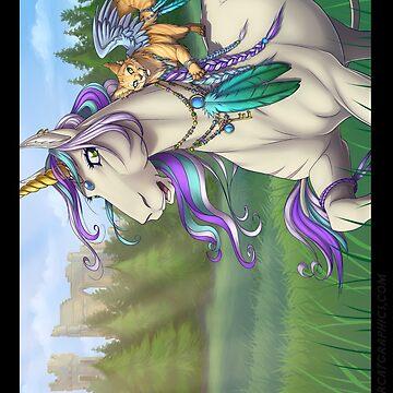 Meadow Unicorn Poster by cybercat