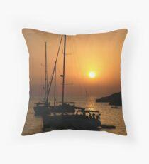Sundown, Ibiza Throw Pillow