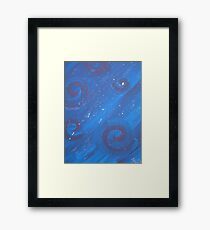 Playful swirls Framed Print