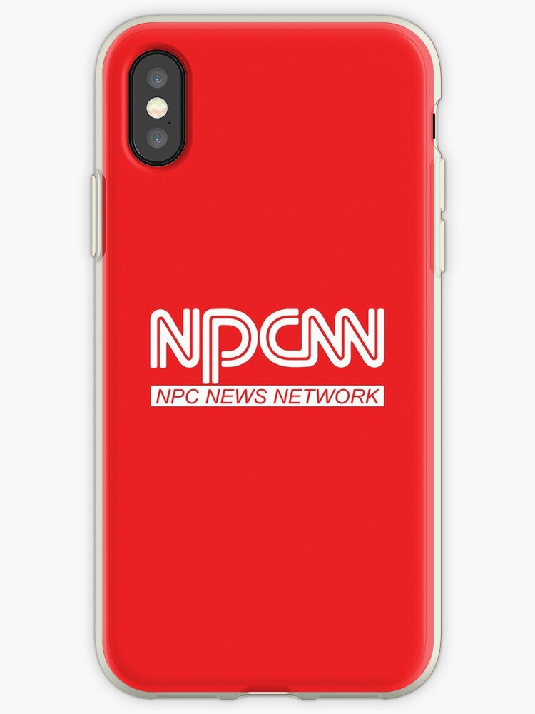 'NPCNN NPC #FAKENEWS Fake News Network meme logo parody HD HIGH QUALITY  ONLINE STORE (also available in red)' iPhone Case by iresist