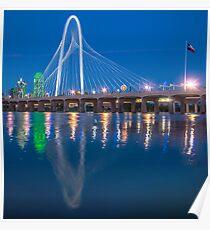 Flooded Margaret Hunt Bridge Reflection Poster