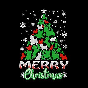Yorkie Dogly Christmas Sweater by Katnovations