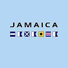 Jamaica Nautical Maritime Sailing Flags Light-Color by TinyStarAmerica