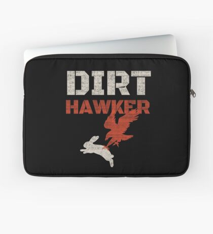 Dirt Hawker Falconry Apparel and Gifts for Falconers and Falconry families. Dirt Hawker T-shirt. Laptop Sleeve